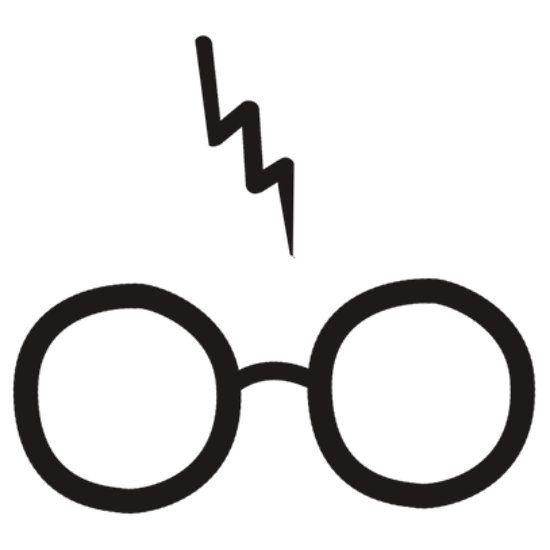Glasses silhouette . Eyeglasses clipart harry potter