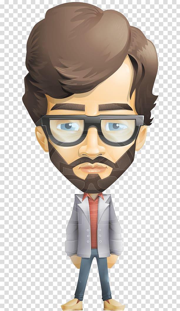 Cartoon beard male old. Eyeglasses clipart man hair