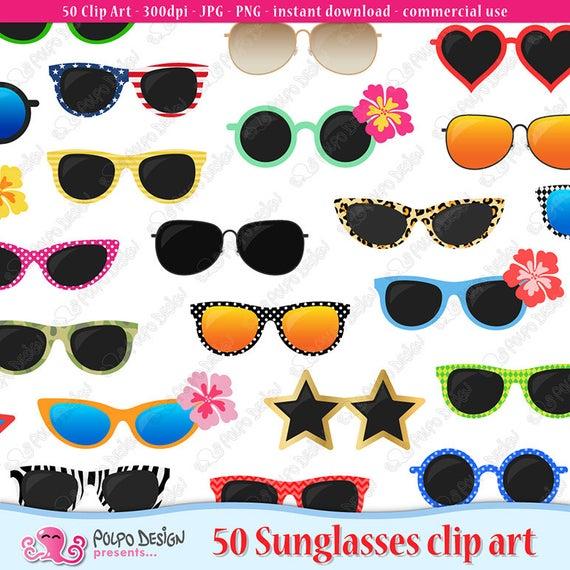 sunglasses digital clip. Eyeglasses clipart party
