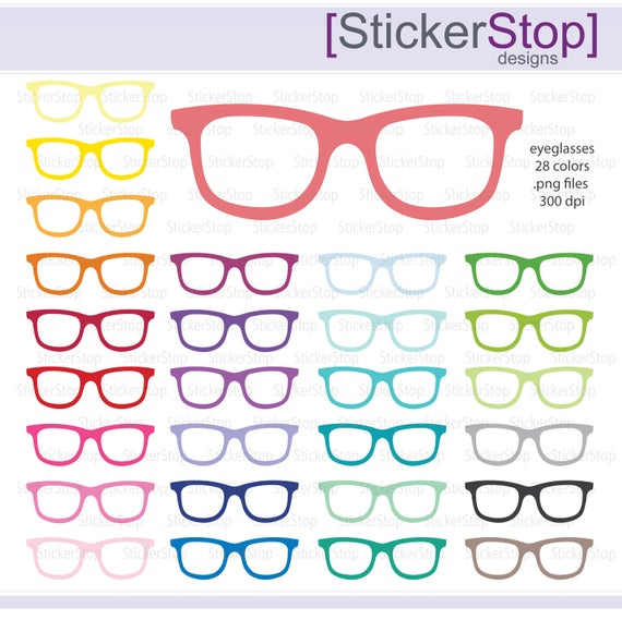 Eyeglasses clipart party. Or glasses colors png