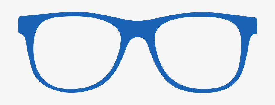 Vision clipart spec frame. Blue glasses transparent