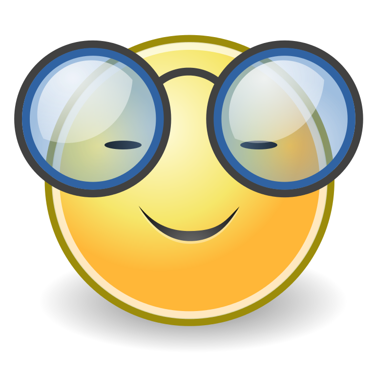 Glass clipart face. Smiley faces with glasses