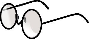 Round eye glasses clip. Eyeglasses clipart spects