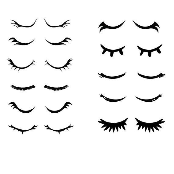 Eyelash clipart. Svg eyelashes lash cricut
