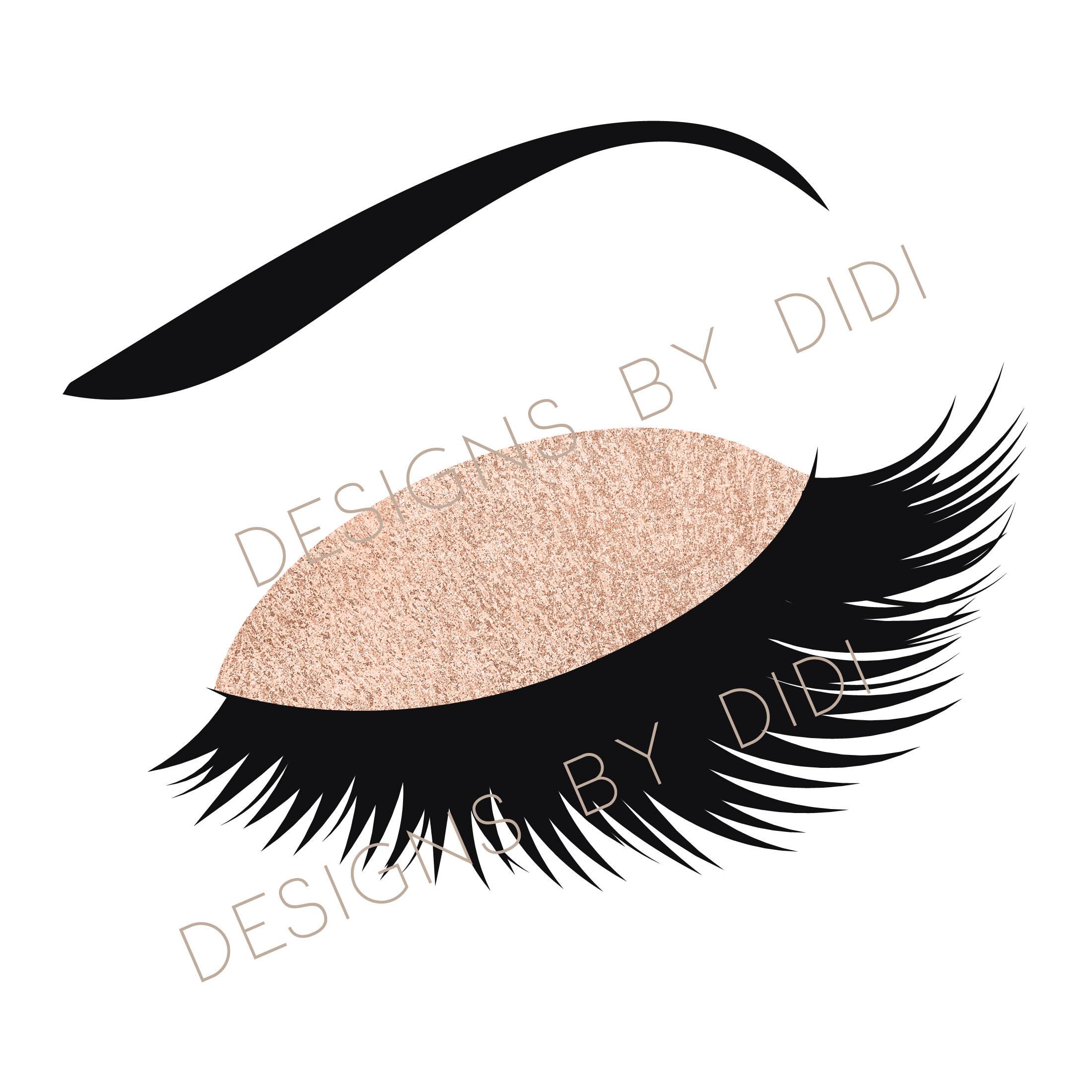 Instant download lash rose. Eyelash clipart