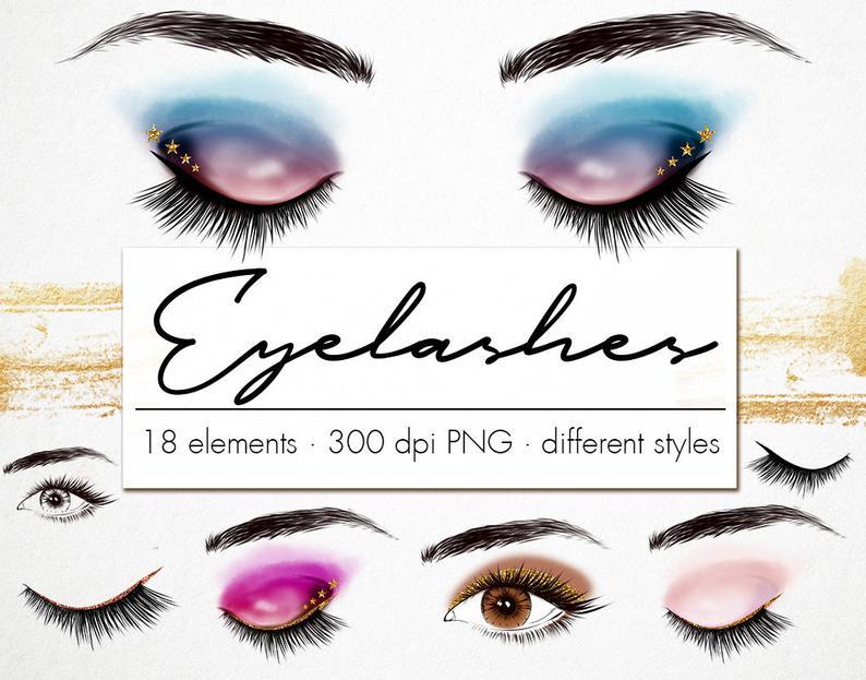 Eyelashes clip art eyeshadow. Eyelash clipart beautiful eye