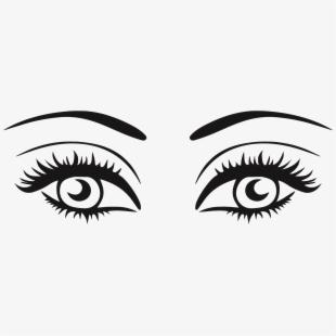 Eyelash clipart big. Two eyes free