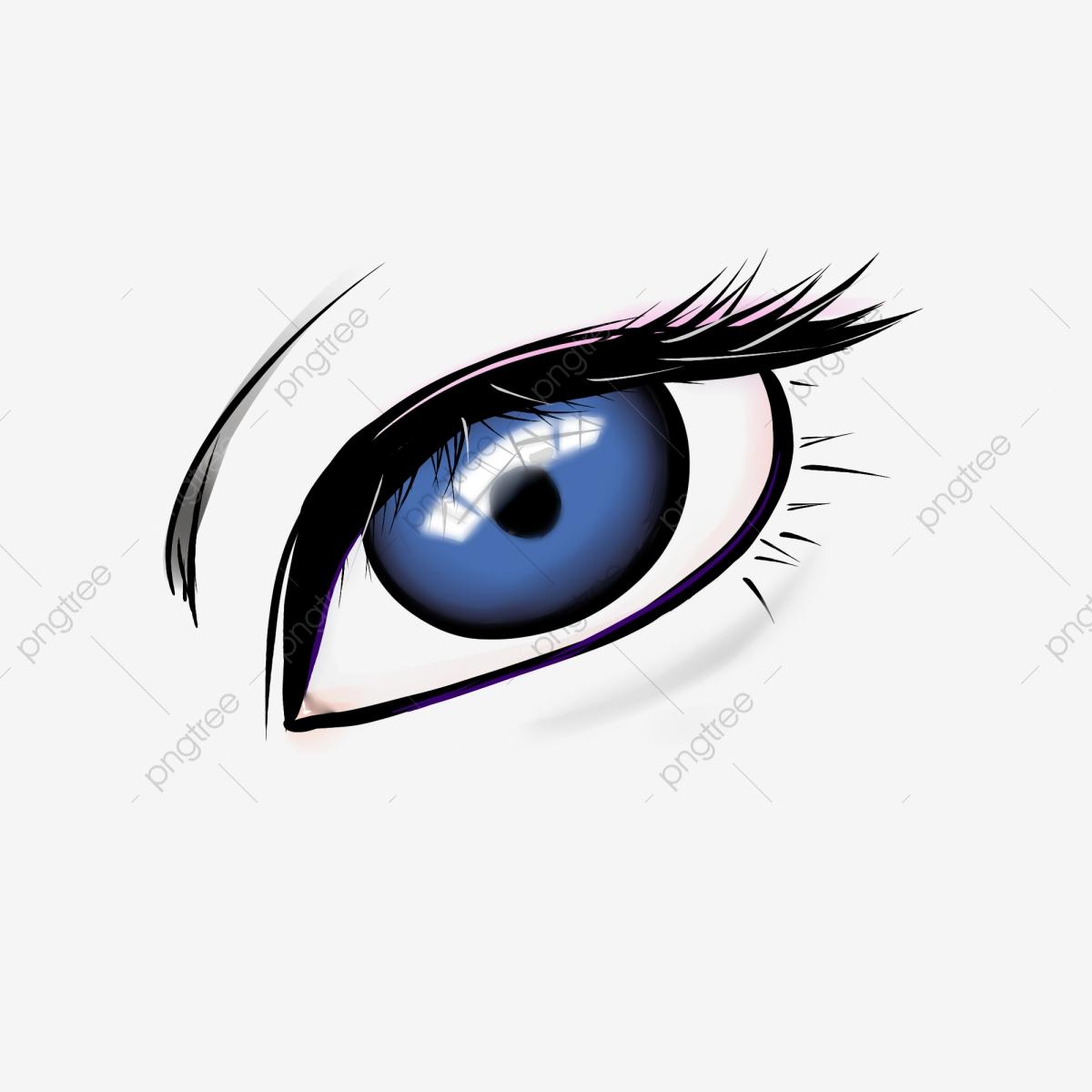 Eyelash clipart cartoon character. Eye long eyelashes blue