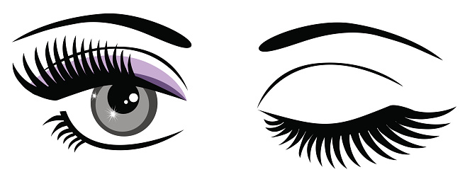 Eyelashes clipart clip art. Eyes with library