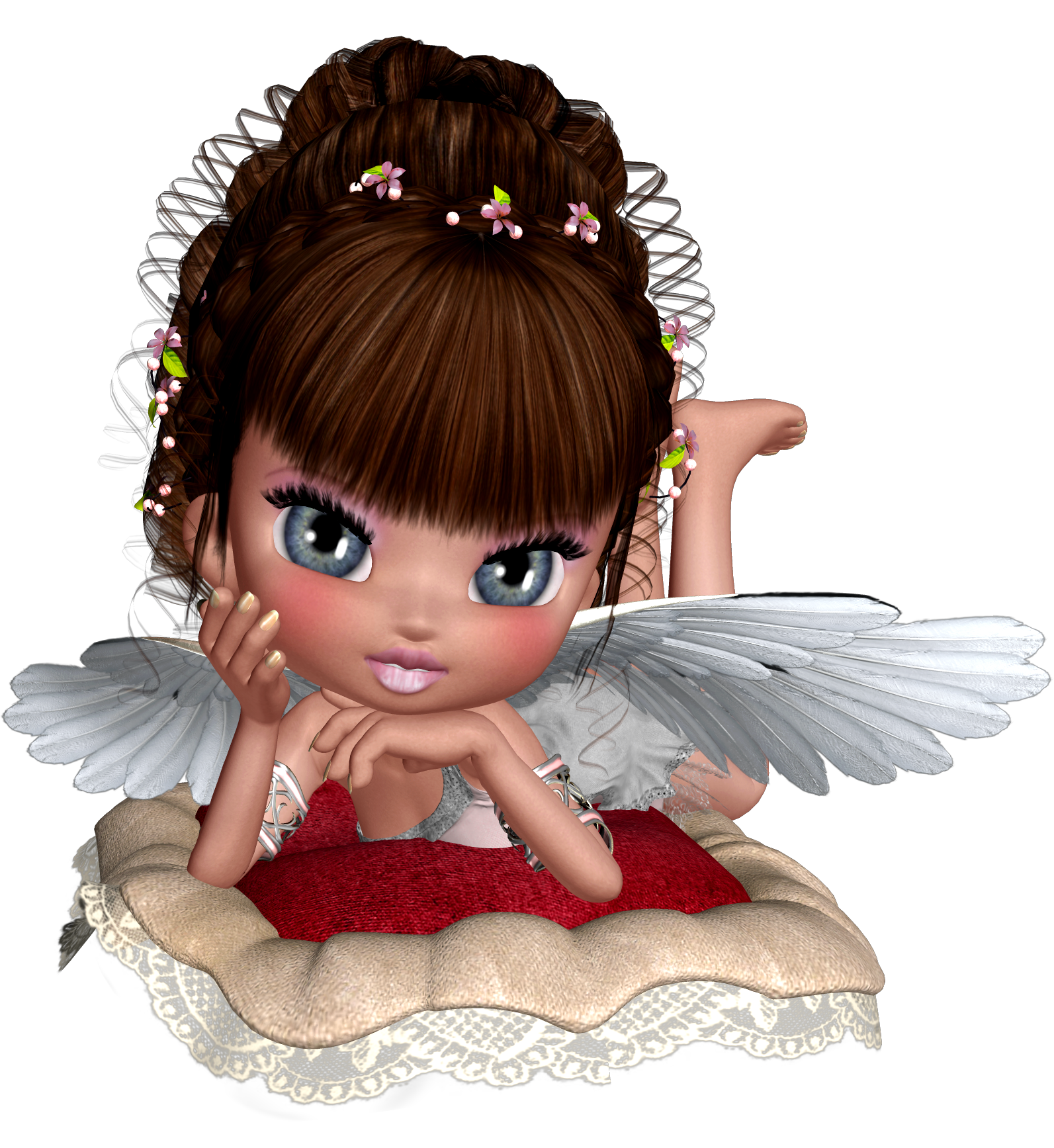 Eyelash clipart cute. D angel png picture