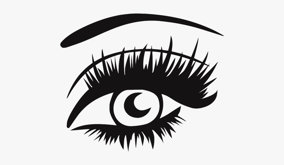 Eyelashes clipart thick eyelash. Eye with lashes png