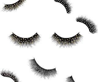 Art etsy . Eyelashes clipart fancy