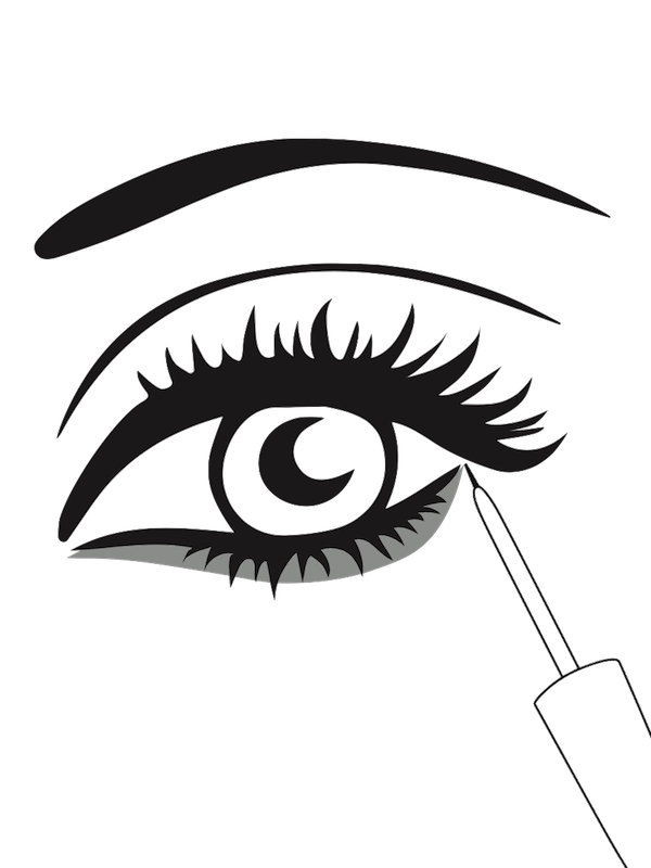 Longlash wimpernwachstum mit nat. Eyelashes clipart thick eyelash