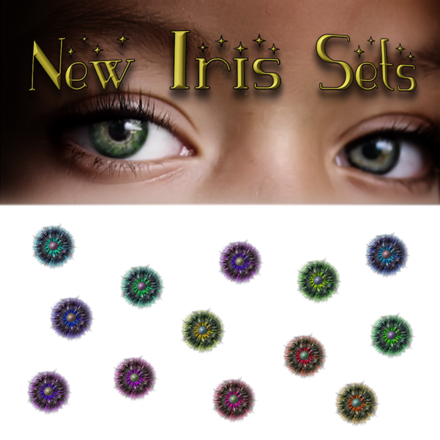 Eyelashes clipart wink. New iris sets by