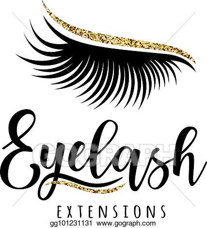 Vector illustration logo eps. Eyelash clipart eyelash extension