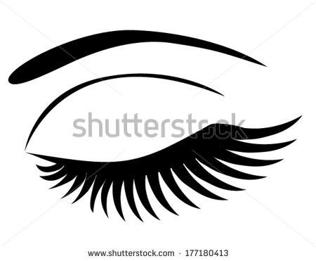 Eyelashes clipart eyelid. Closed google search beauty