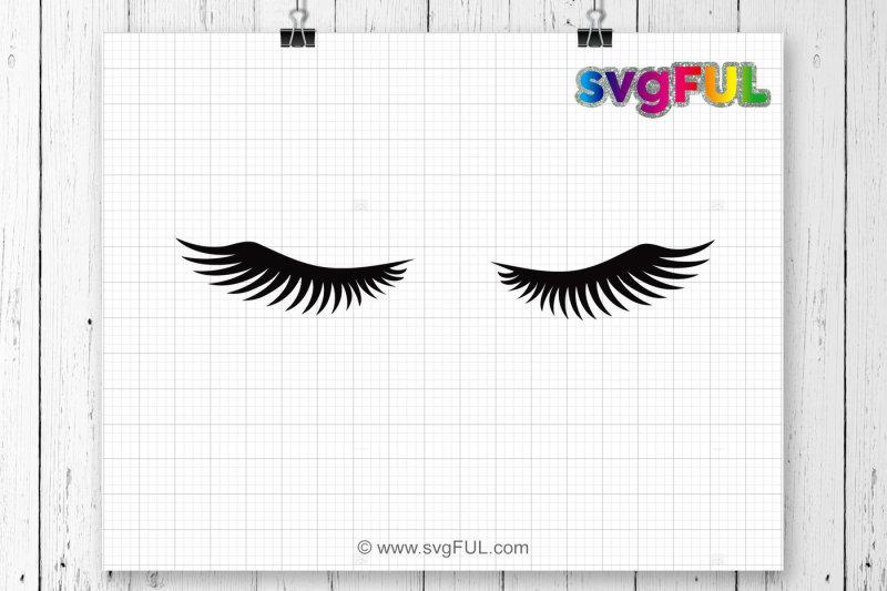 Free svg eye lashes. Eyelashes clipart cricut