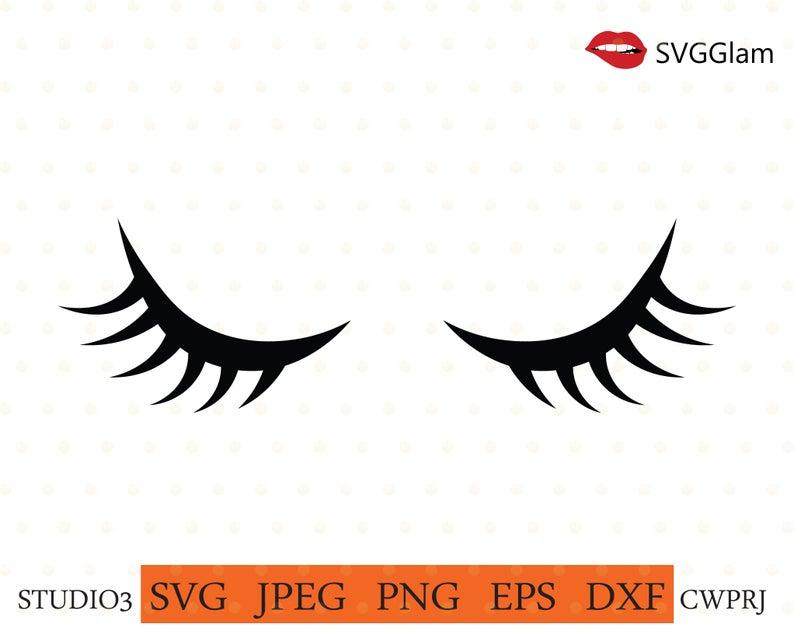 Eyelashes clipart cricut. Svg eye file cut