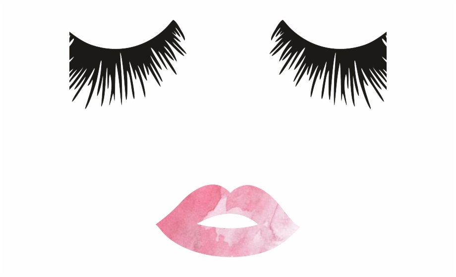 Eyelash clipart lip. Collection of free drawing