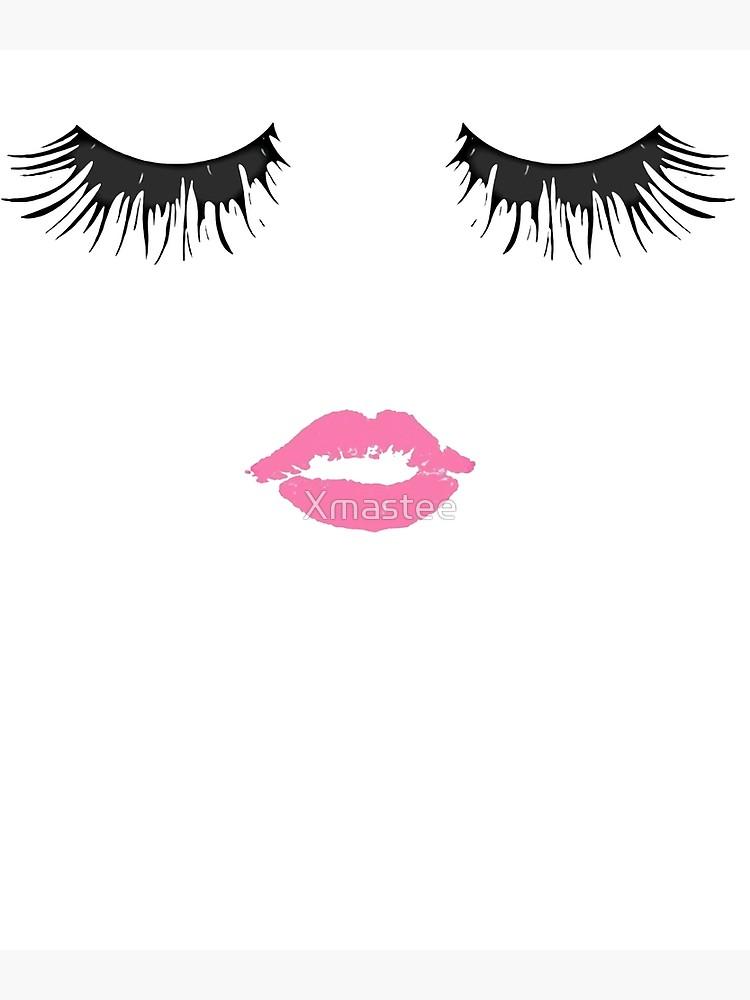Style tee lips lashes. Eyelash clipart lip