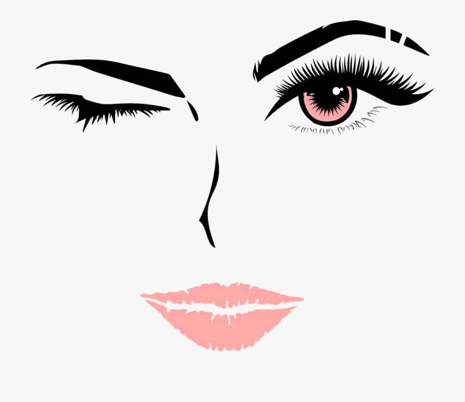 Eyelashes clipart mouth. Eyelash and lips free