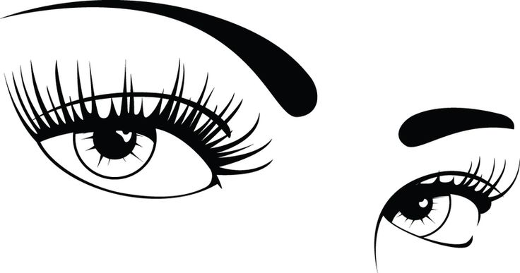 Eyelashes clipart black and white. Free cliparts download clip