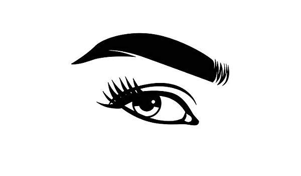 Amazon com yetta quiller. Eyelashes clipart perfect eyebrow
