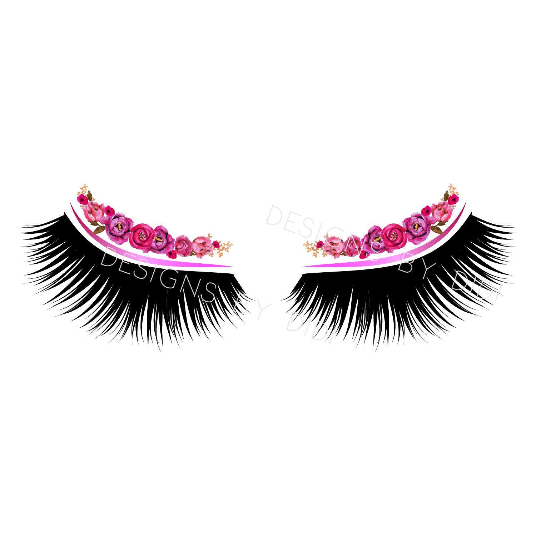 Eyelash clipart pink. Instant download lash gold