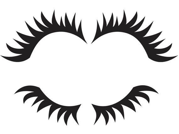 Eyelash clipart printable. Free eyelashes cliparts download