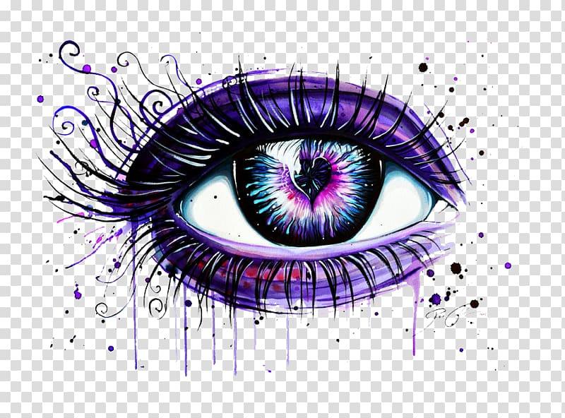 Eyelash clipart purple eye. Art abziehtattoo liner drawing
