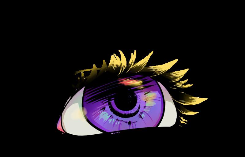 Eyelash clipart purple eye. By pikarie on deviantart
