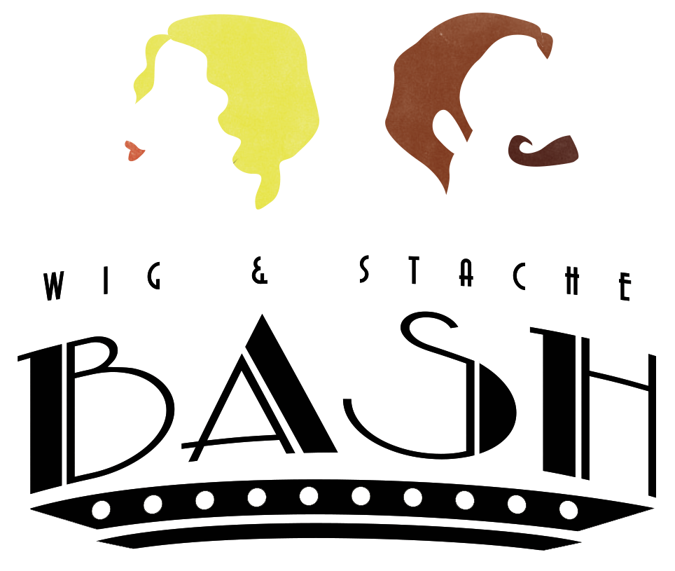 Wig and stache bash. Eyelashes clipart staches or lash