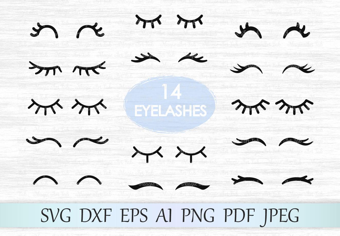 File eyelash vector cut. Eyelashes clipart svg