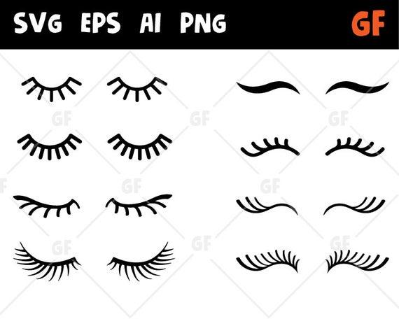 Eyelashes clip art svg. Eyelash clipart vector