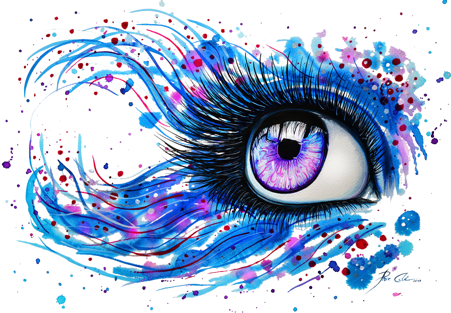 Eyelashes clipart watercolor.  days left to