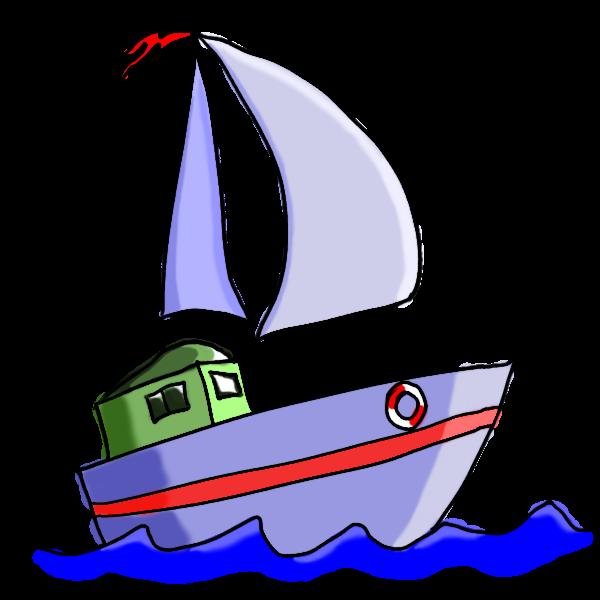 Waves clipart boat. Sailing ship little pencil