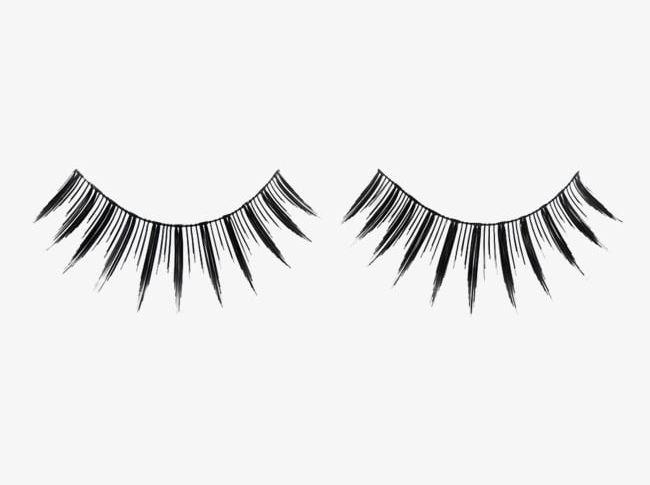 False png . Eyelashes clipart black and white