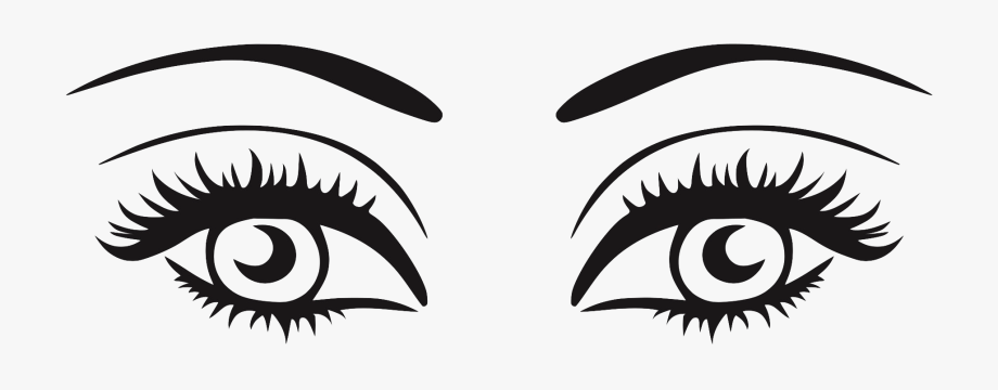 Eyelashes clipart black and white. Eye with png free