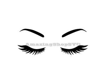 Etsy . Eyelashes clipart cricut
