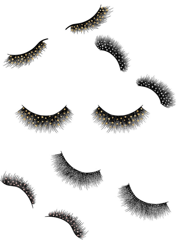 Eyelashes clipart fancy. Digital art polka dot