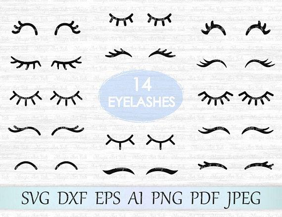 Svg eyelash vector cut. Eyelashes clipart file