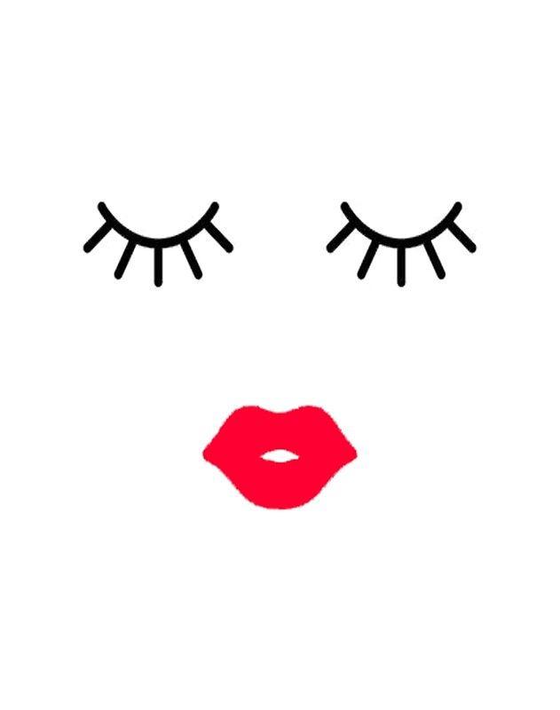 Eyelash and quiet art. Eyelashes clipart mouth