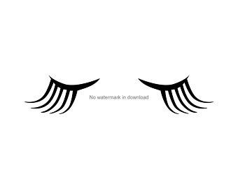 Eyelashes etsy . Eyelash clipart printable