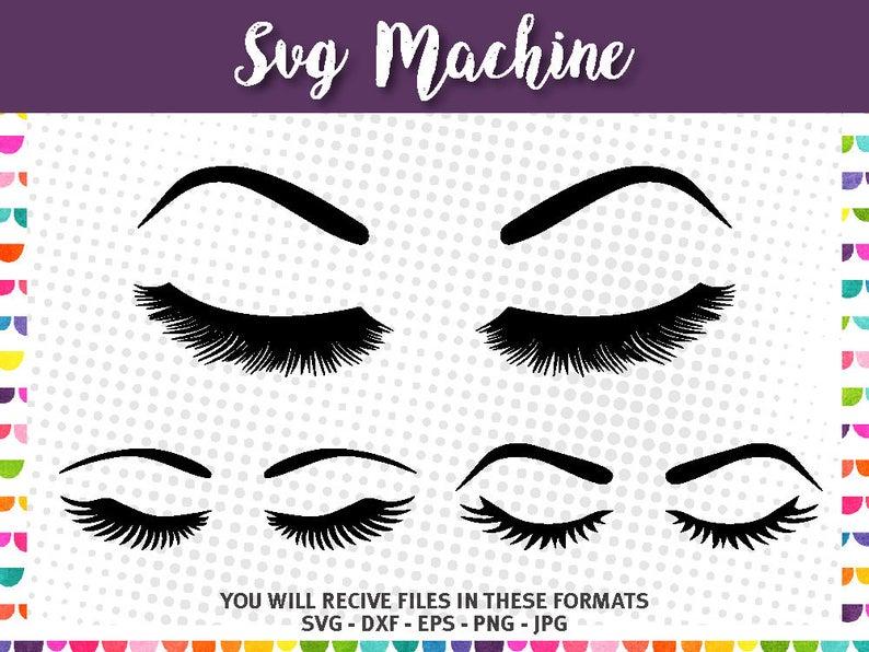 Eyelashes clipart svg. Bundle lashes eyes eyebrow