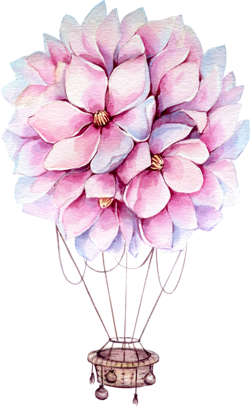 Lavender clipart hot air balloon. Baloon png pinterest balloons
