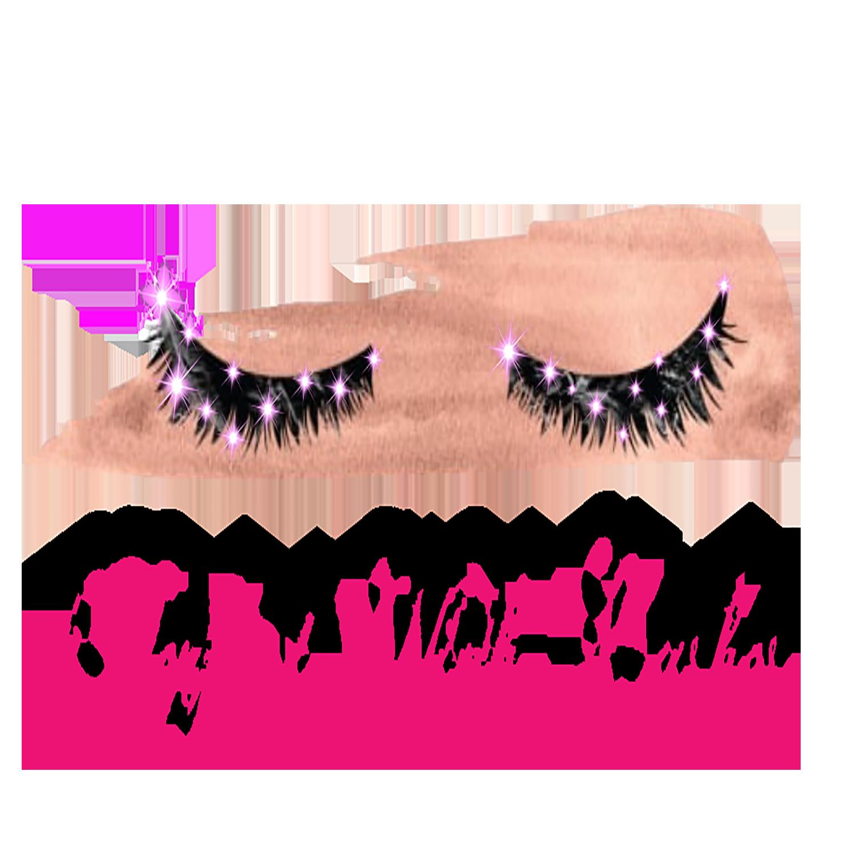 Custom logo printing made. Eyelashes clipart wink