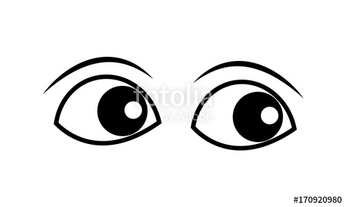 Eyes clipart. Cartoon vector stock image