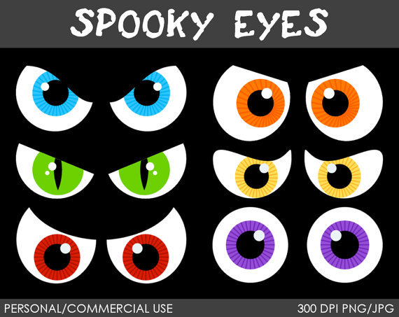 Scary look at clip. Eyes clipart bat