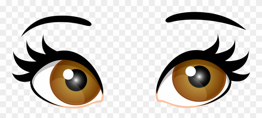 Png black and white. Eyes clipart brown eye