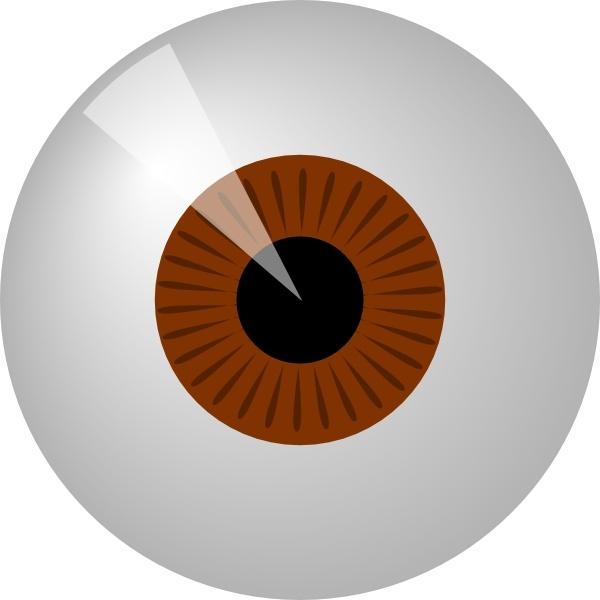 Eyes clipart brown eye. Clip art free vector